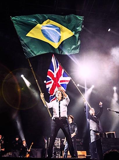 Image result for paul mccartney brazil flag